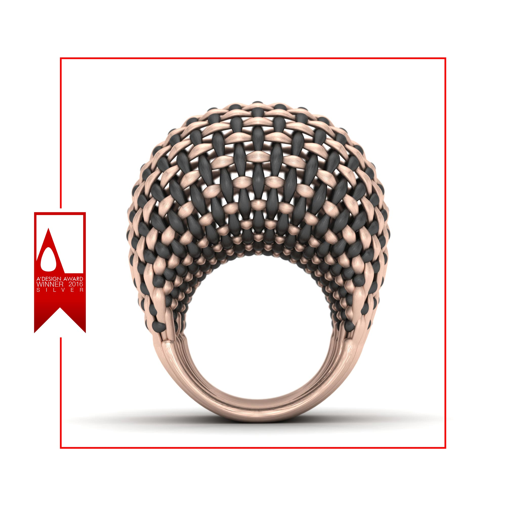 Interwoven Gold Ring,seyed mohammad morta